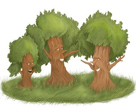 Рисунки о трех деревьях
