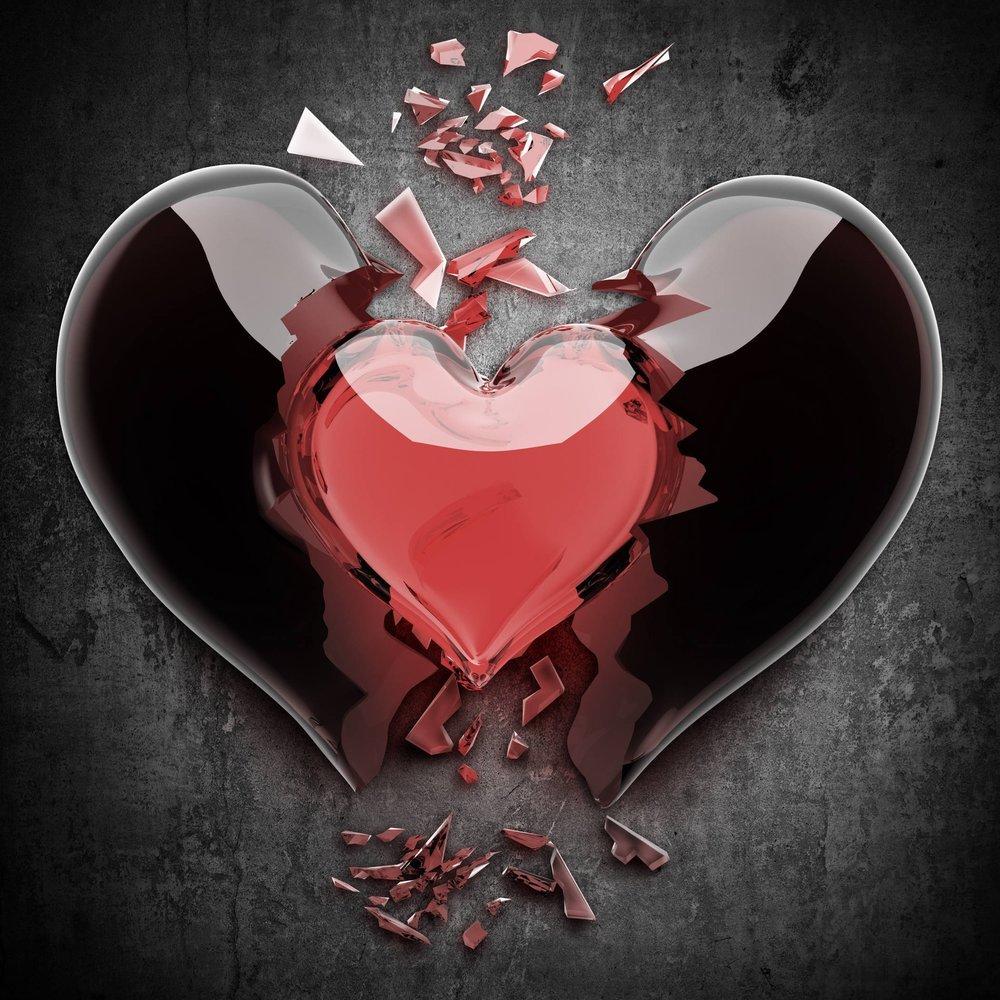 Открытки мое сердце разбито